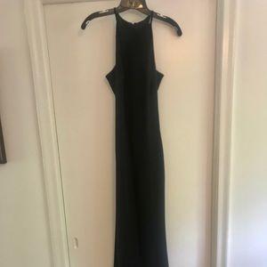 Calvin Klein Dresses Crepe Halter Gown Poshmark